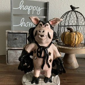 New Halloween vampire Pig Candle Holder